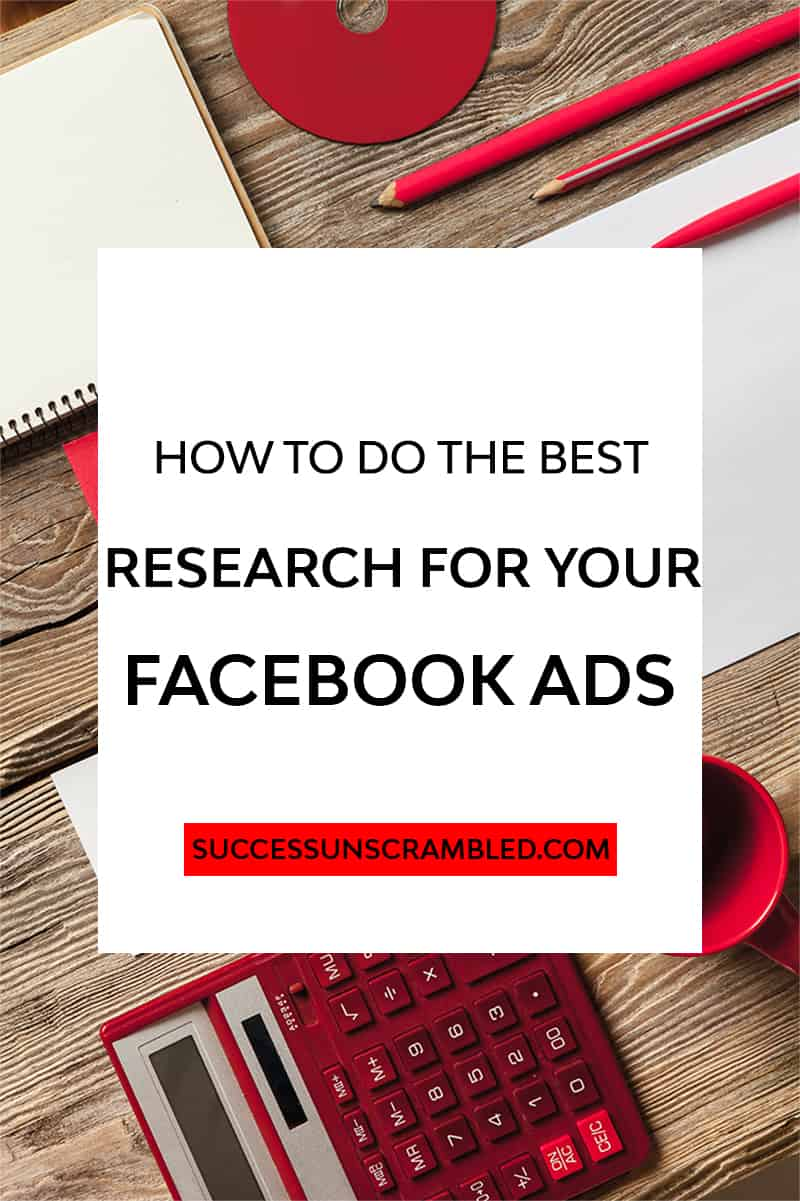 how to do the best research for your facebook ads