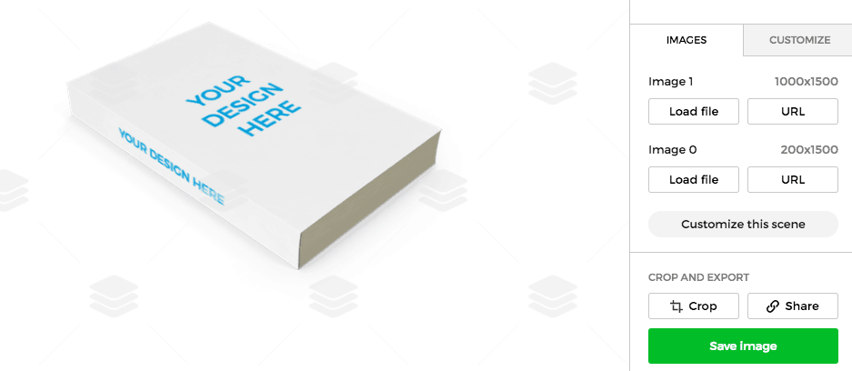 example book mockup