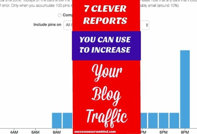 7 clever reports for monthly Pinterest views- blog