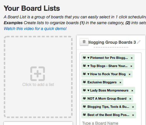 Tailwind Board List Feature