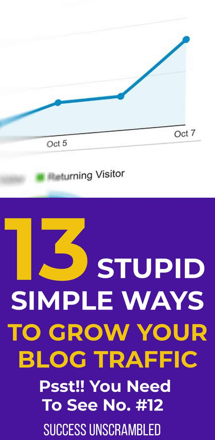 13 Stupid Simple Ways To Grow Your Blog Traffic-1