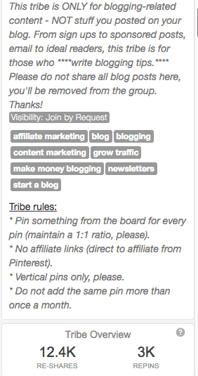 Example of Tribe rules