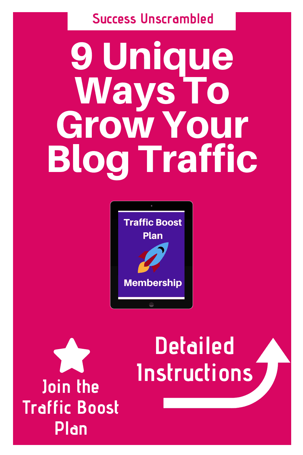 Grow Your Blog Traffic - 1000x1500
