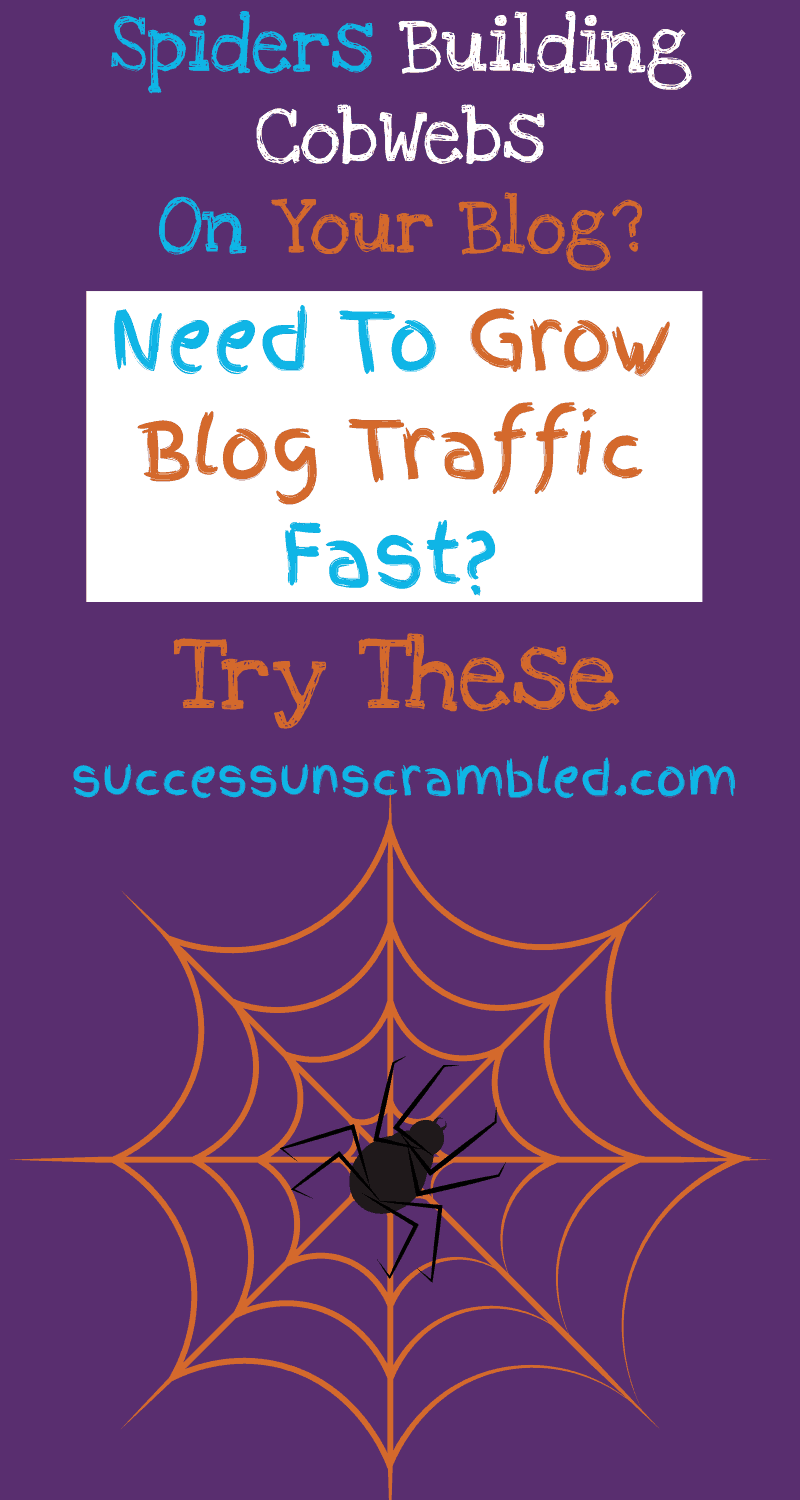 Spiders building cobwebs on your blog