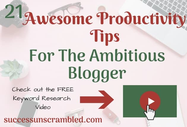 Are you an ambitious blogger? Here are 21 productivity tools that will assist you with your time management ambitions. From keyword research, starting a blog, publishing a blog, blog traffic, project management, creating images, content upgrades, printables, video, pdf and video creation. They help with blogging, digital marketing, social media management and content strategy.