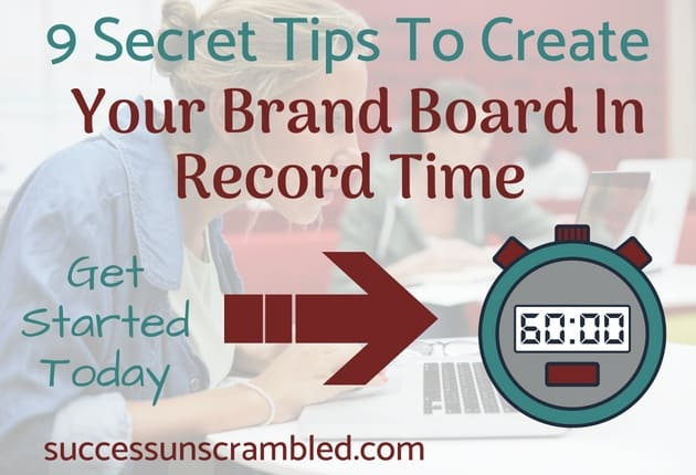 Create your brand board in record time using these 9 secret steps. You may not be a multimillion dollar company but you can still brand your blog or your business without a brand team using these same techniques that pros....