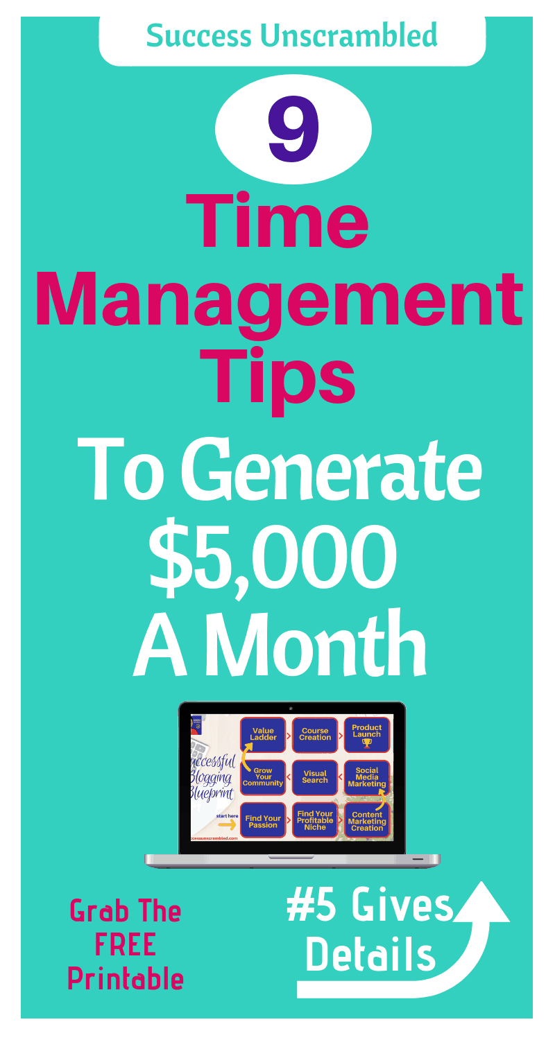 Time Management Tips - 800x1500