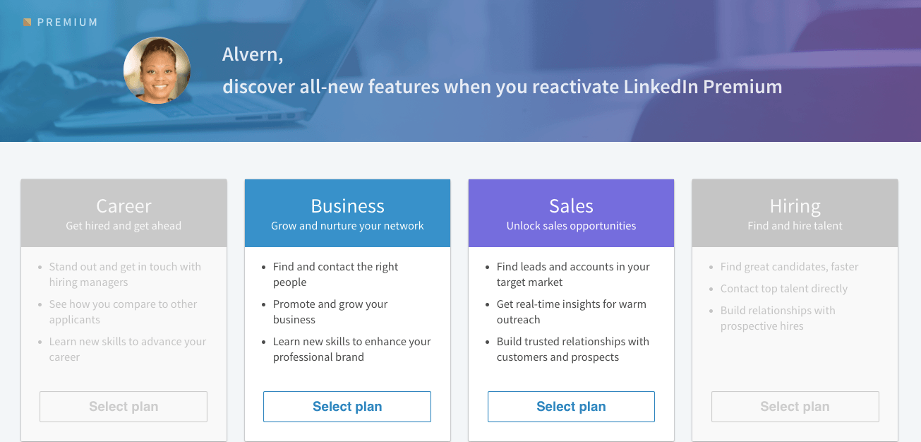 LinkedIn Premium Business Plans