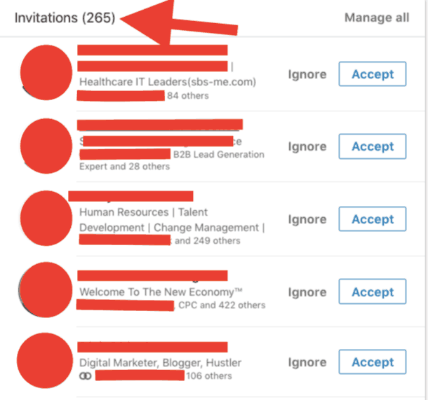 My LinkedIn Connection Requests