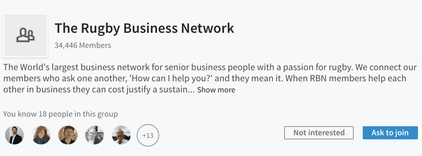 The Rugby Business Network - LI