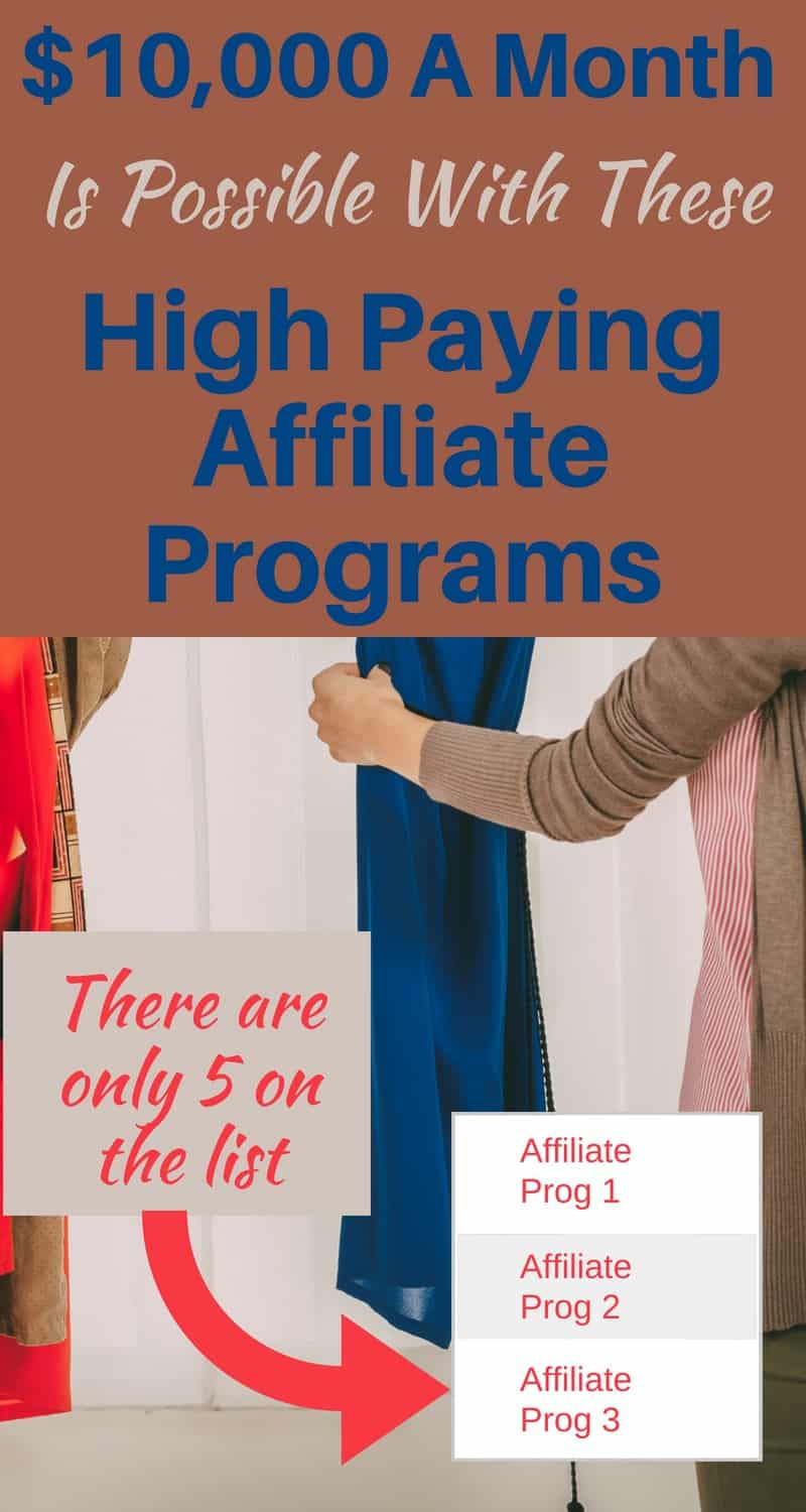 $10,000 A Month Is Possible With These High Paying Affiliate Programs