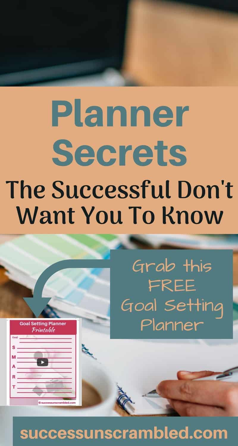 Planner Secrets The Successful Don't Want You to Know