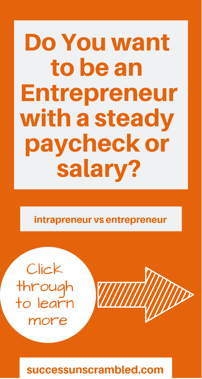 Do You want to be an Entrepreneur with a steady paycheck or salary_