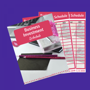 Business Investment Schedule template - sale item (1)