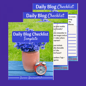 Daily Blog Checklist template - sale item