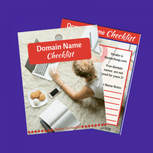 Domain Name Checklist Template - sale item