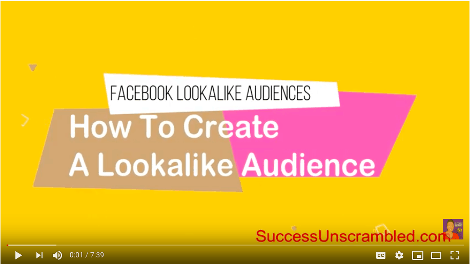 Facebook Lookalike Audiences - video