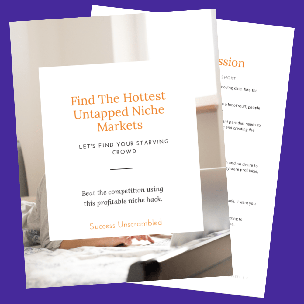 Find The Hottest Untapped Niche Markets - preview