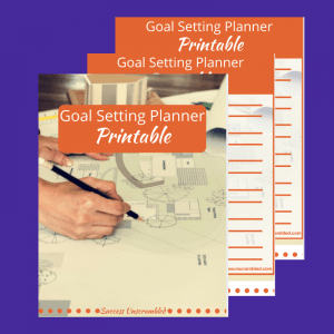 Goal Setting Planner Printable Template - sale item