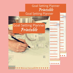 Goal Setting Planner Printable Template - sale item - pink bg