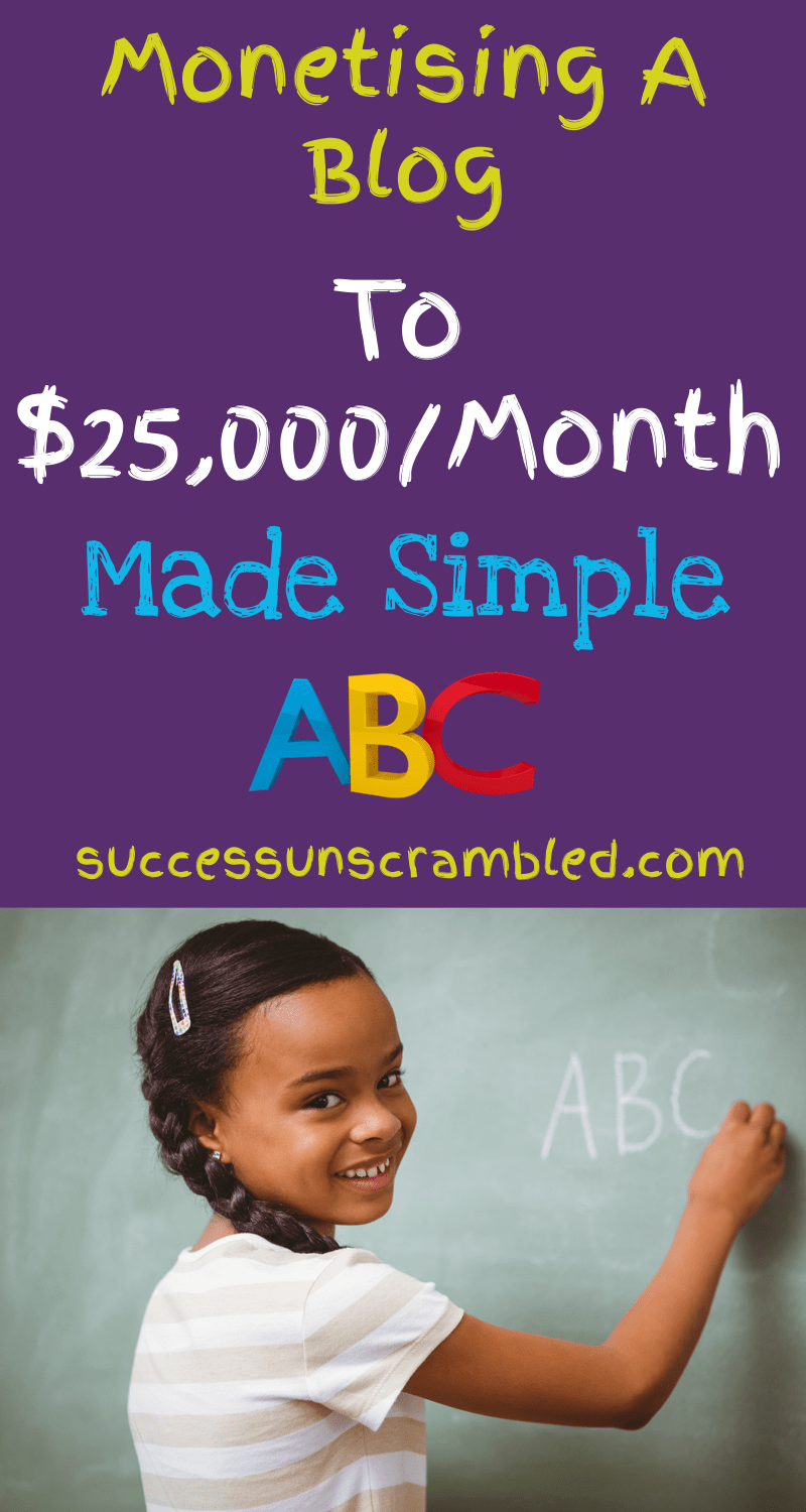 Monetising a blog to 25,000 a month made simple