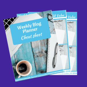 Weekly Blog Planner Template - sale item