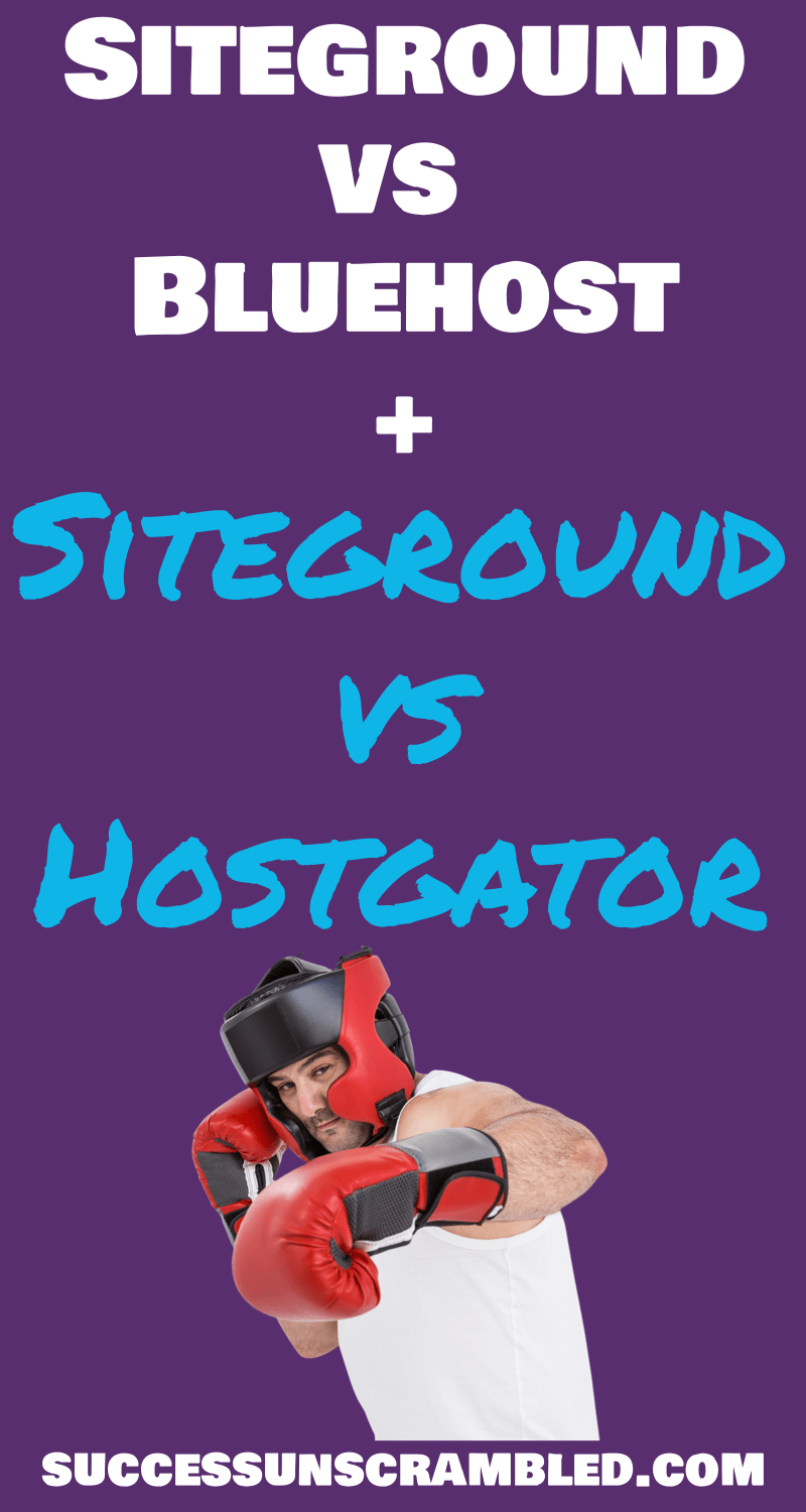 Have you ever felt confused about choosing the best web host for your blog or website? Ever wished that there was an easier way for you to compare the most popular web hosts side by side? Before you click buy now find out what you need to know about Siteground vs Bluehost compared to Siteground vs Hostgator and get assurance around making the best decision for now and the future.