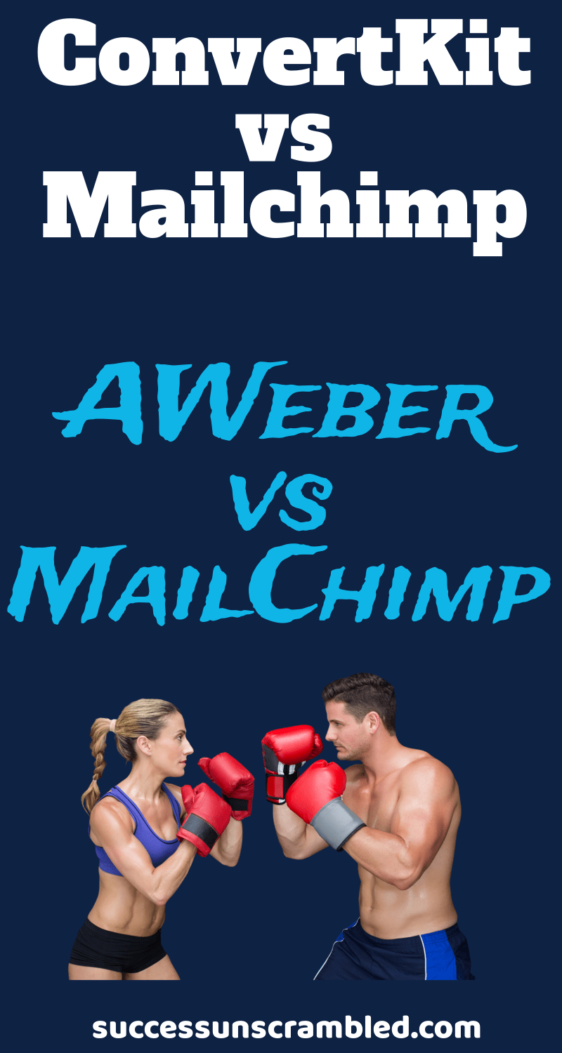 Are you looking to create an email list?  Are you stuck because you don't know which email marketing provider to choose?  So you are down to your semifinal decision of an email marketing provider. You are looking at ConvertKit vs MailChimp vs AWeber and the winner is...