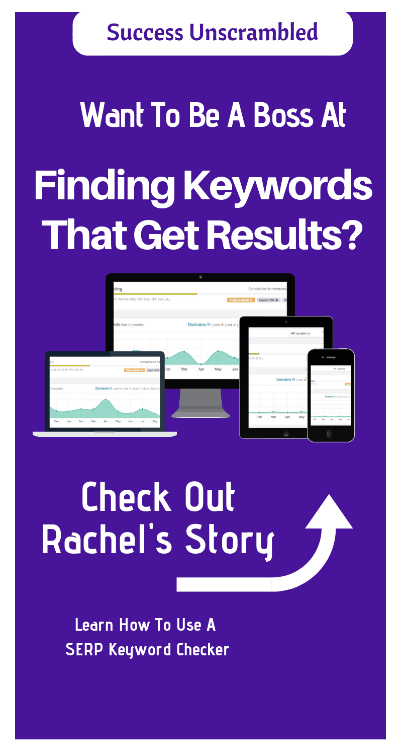 SERP Keyword Checker - Rachel's Story - 800x1500