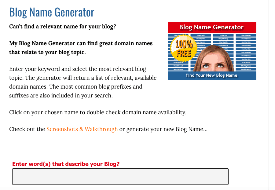 Cool names ideas - blog name generator