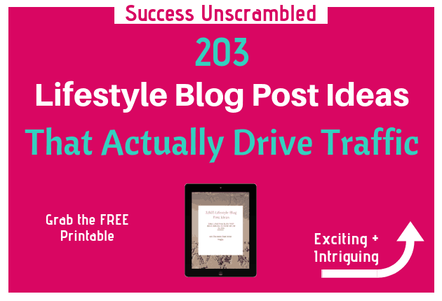 Lifestyle Blog Post Ideas - 630x430
