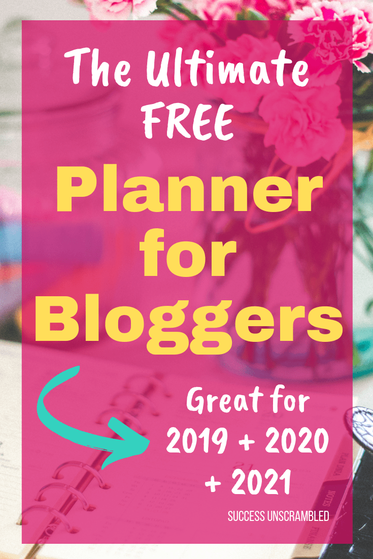 The Ultimate FREE Planner for Bloggers