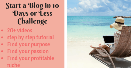 Start a Blog in 10 Days or Less - landing 2