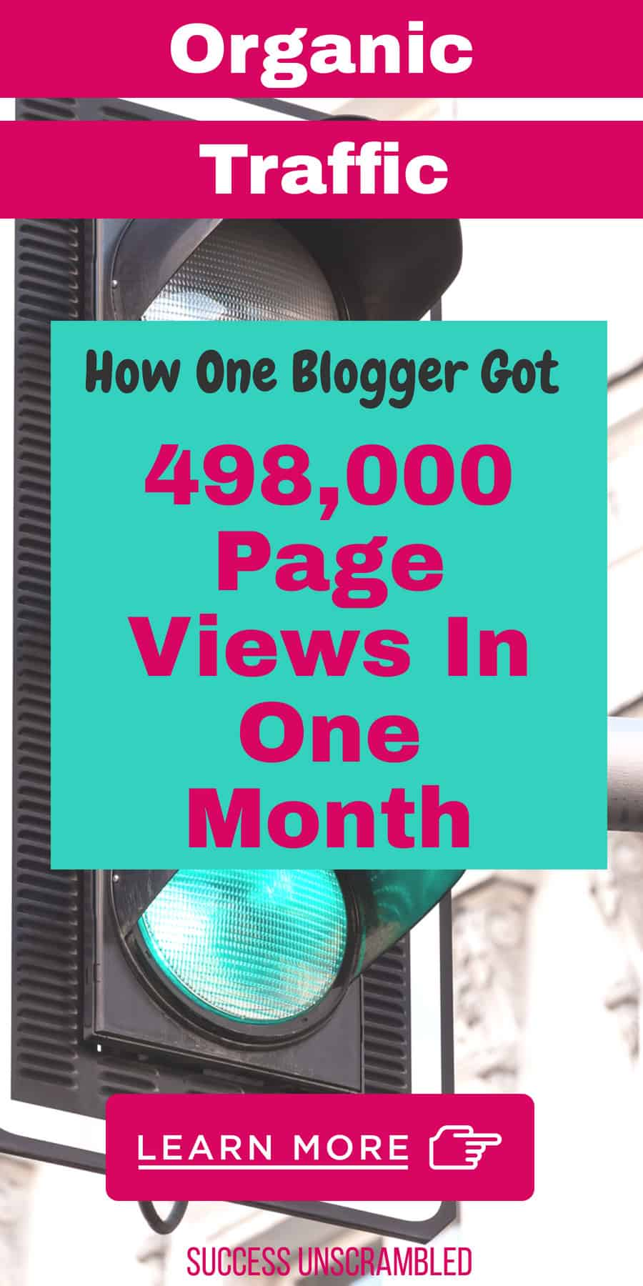 How one blogger got 498,000 page views - organic traffic