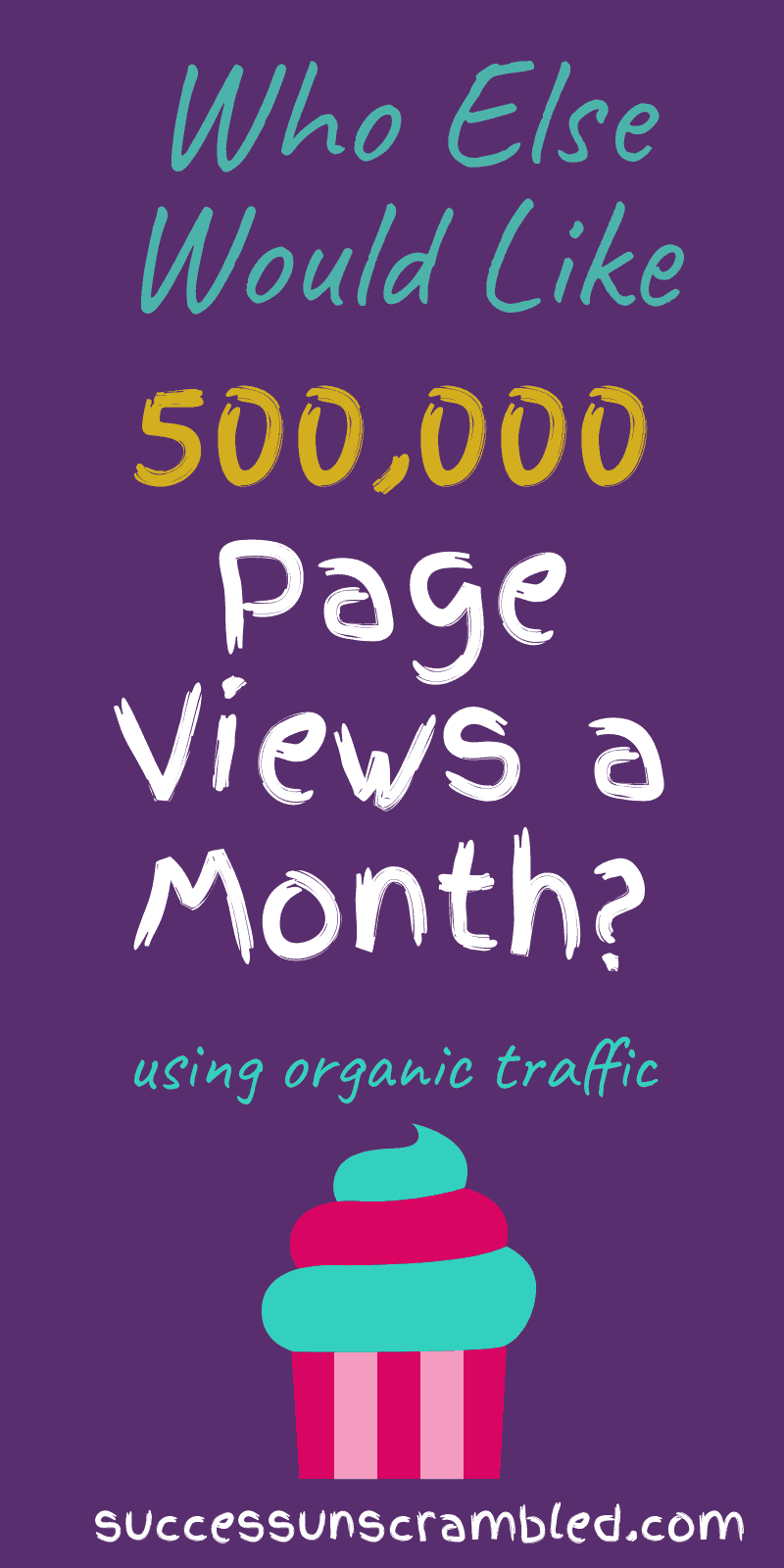 who else wants 500,000 page views of organic traffic - 800x1600