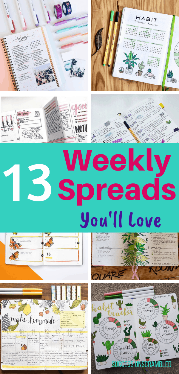Bullet Journal Weekly Spread Layout Ideas You'll Love
