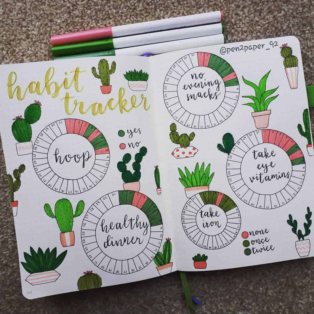 Habit Tracker - Meghan - Instagram