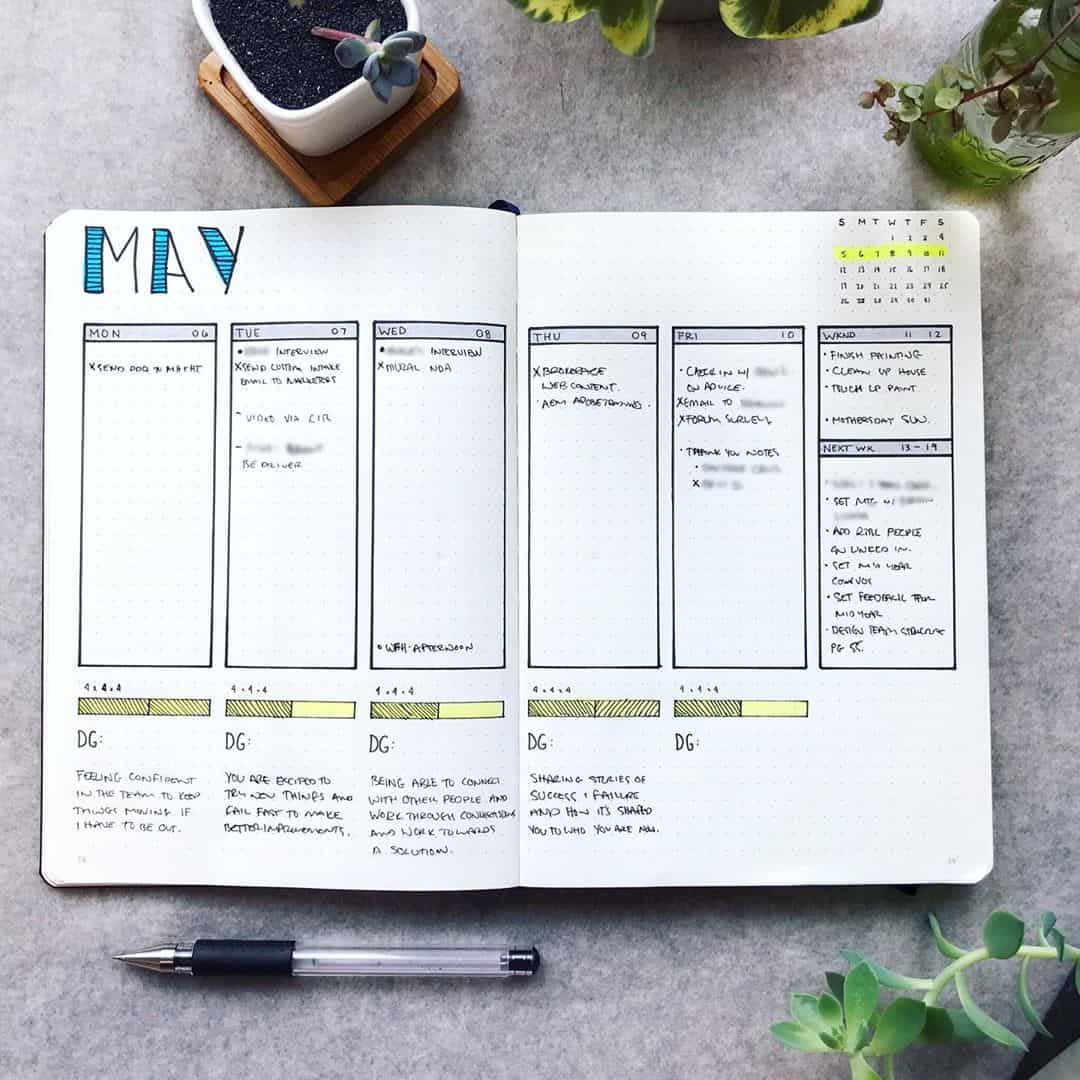 Weekly Spread Planner - Mark - Instagram