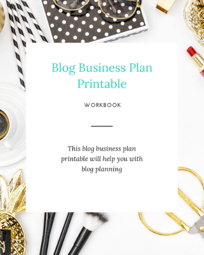 blog business plan printable medium