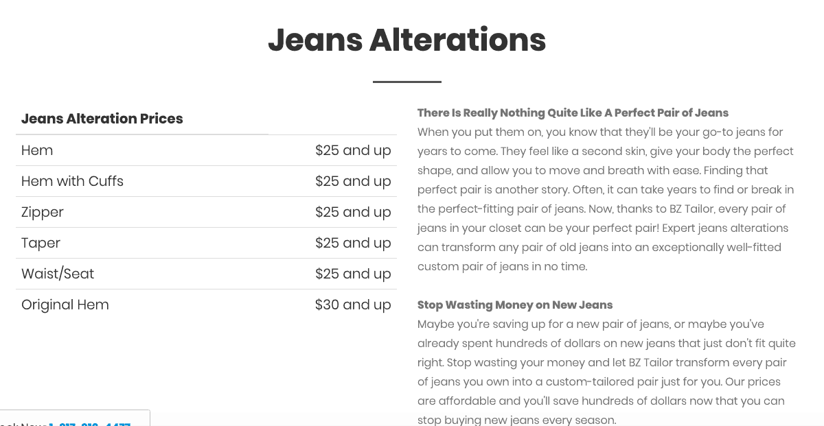 bztailor-com Jeans alterations