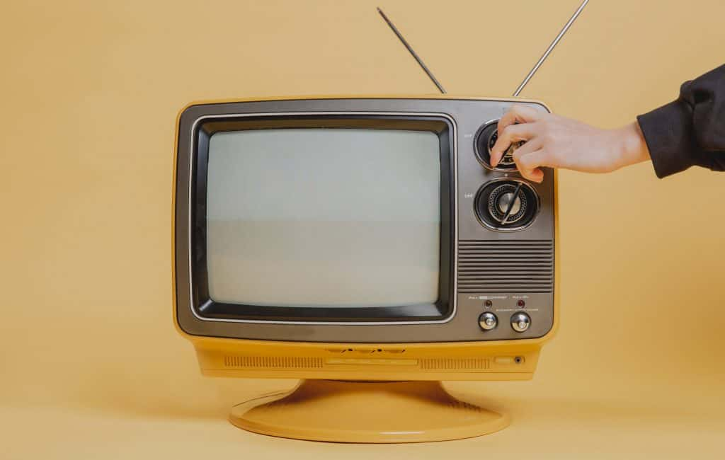 tuning-a-vintage-television-set