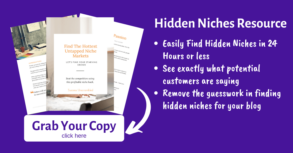 Hidden Niches Resource