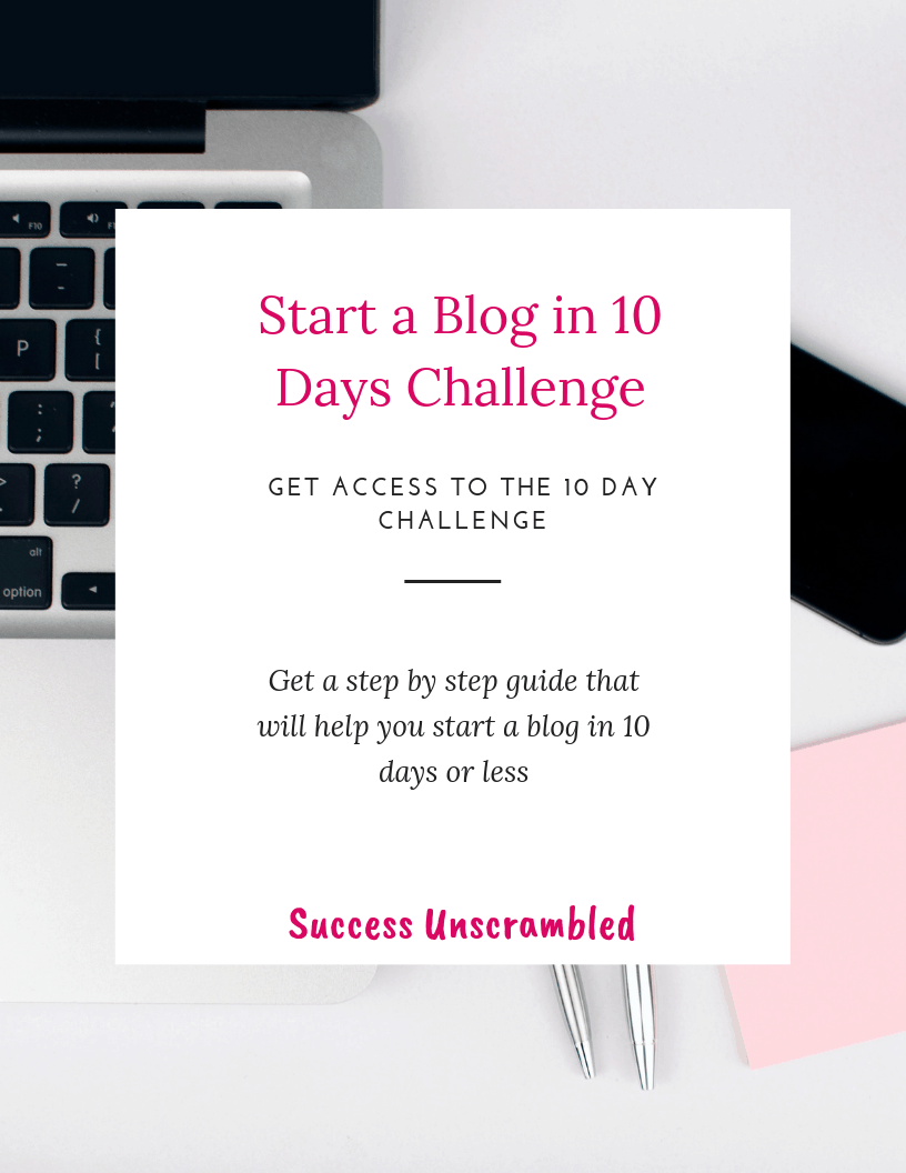 Start a Blog In 10 Days Challenge - cover