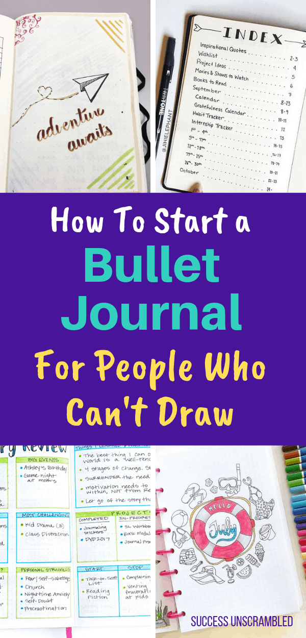 Start a bullet journal for people who can't draw