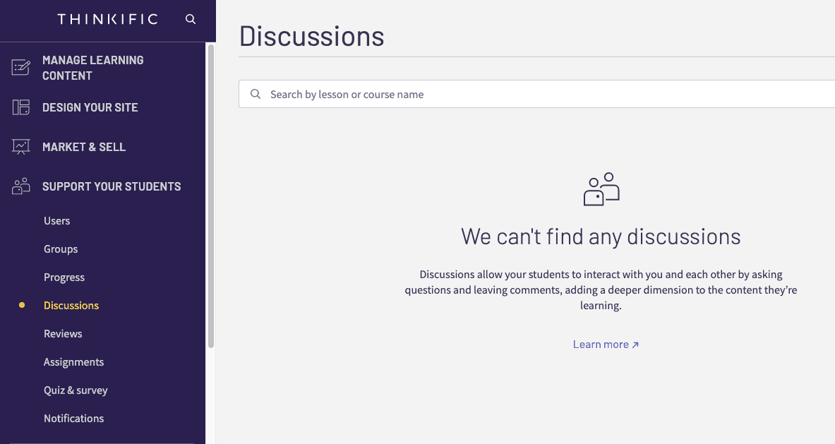 Discussions - Thinkific