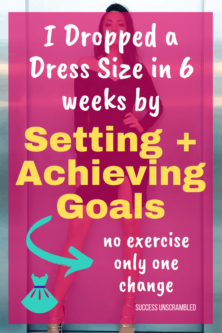 I dropped a dress size in 6 weeks no exercise