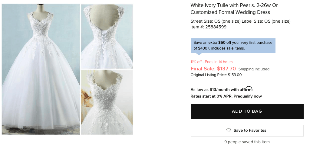 formal wedding dress - Tradesy