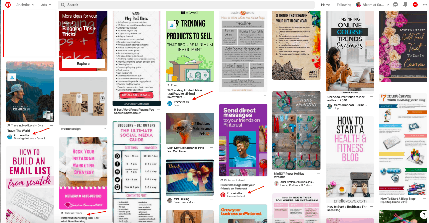 Pinterest Smartfeed with Ads