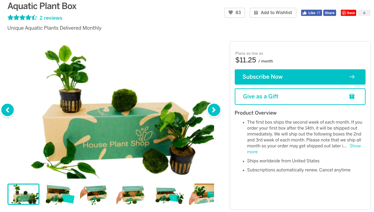 house plant subscription box - Cratejoy