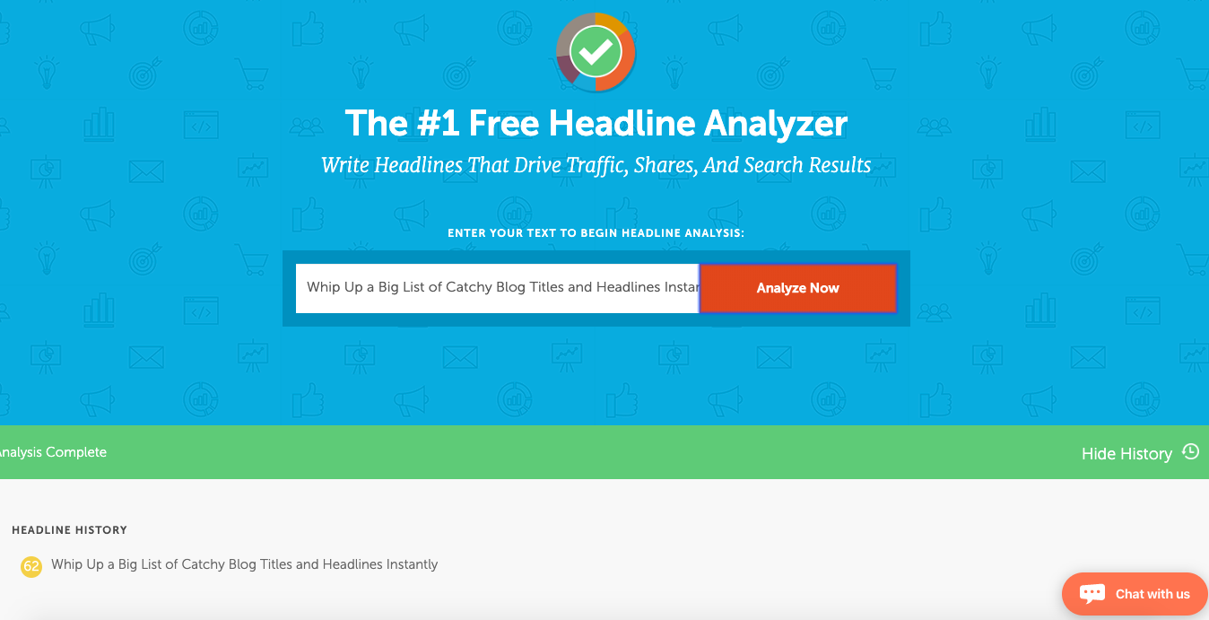 Co-Schedule Headline Analyzer - example
